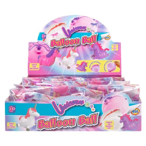 3 Kids Unicorn Super Size Balloon Balls Reusable Pink, White & Blue